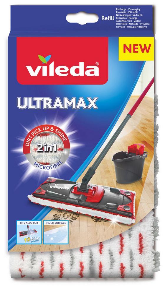 Potah Na Mop Ultramax Microfibre 2v1 - červená, Konvenční, textil/umělá hmota