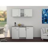 Küchenblock Wito 150 cm Weiß - Edelstahlfarben/Weiß, MODERN, Holzwerkstoff (150/60cm)