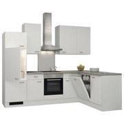 Eckküche Wito 280x170 cm Weiß - Edelstahlfarben/Weiß, MODERN, Holzwerkstoff (280/170cm) - Bessagi Home