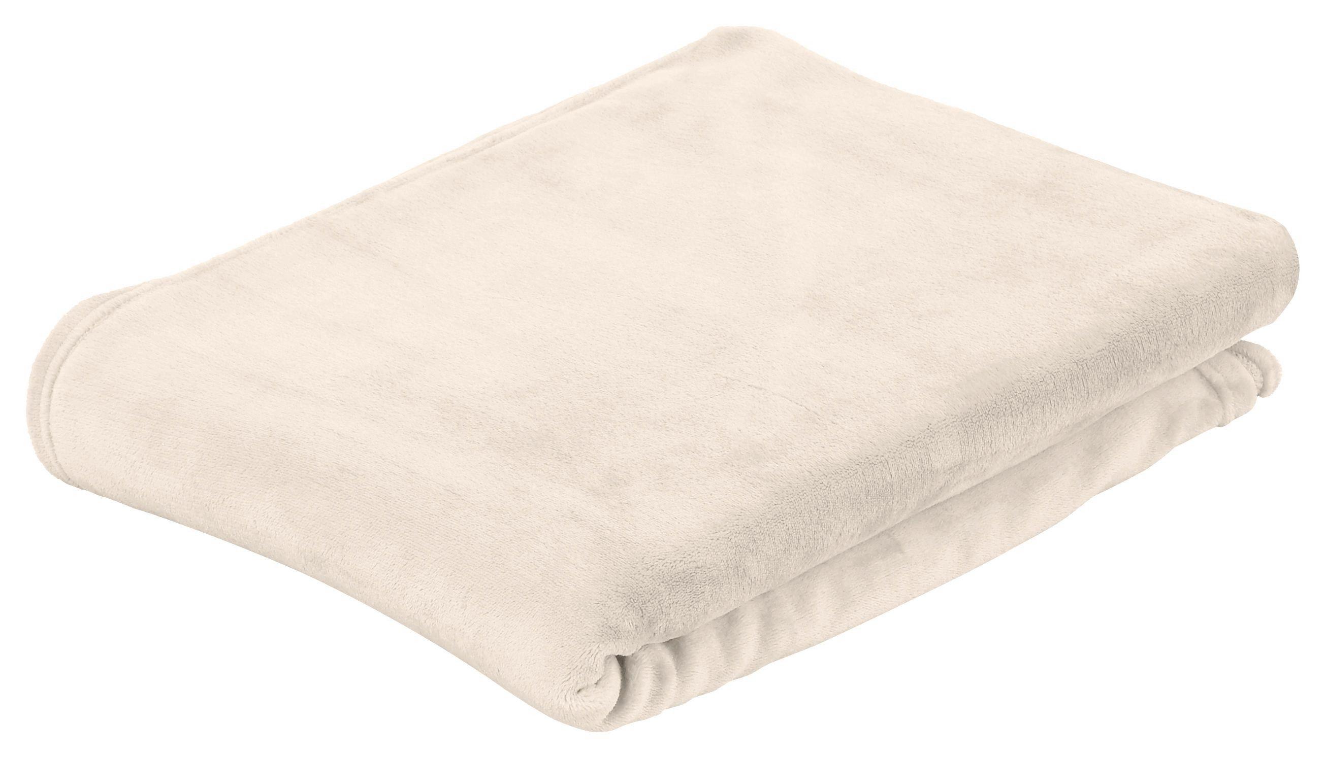Kuscheldecke Marlies - Beige, KONVENTIONELL, Textil (150/200cm) - Luca Bessoni