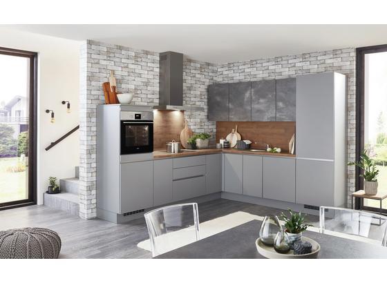 Rohová Kuchyňa Fargo - farby dubu/sivá, Design, kompozitné drevo (283,5/263,5cm) - Celina