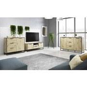 TV-Element Brooklyn B: 150 cm - Eichefarben, Basics, Holzwerkstoff (150/53/39cm)