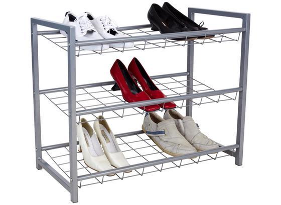 Regál Na Topánky Shoe - strieborná, Moderný, kov (80/60/30cm) - Homezone