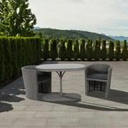 Balkonset Kuba - Grau, MODERN, Kunststoff/Textil - Greemotion