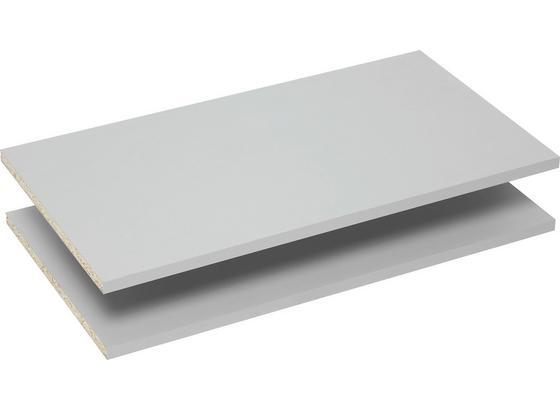 Sada Vkládacích Polic Ohio - šedá, kov/kompozitní dřevo (57,7/32/1,5cm)