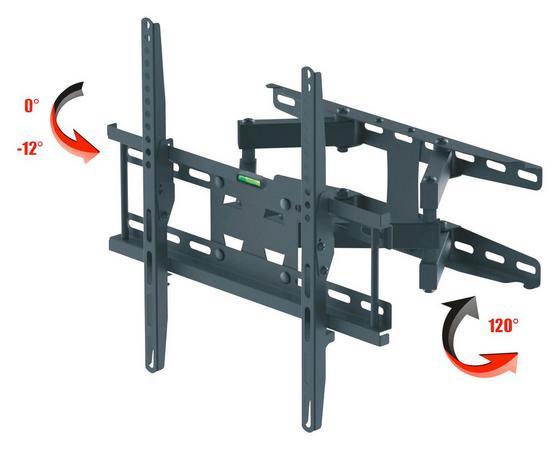 TV-Wandhalter Ax Mercury Black - Schwarz, MODERN, Metall (44/35/40cm)