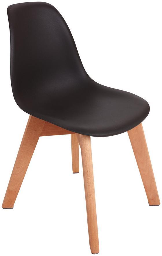 Kinderstuhl Bambino Grau - Birkefarben/Grau, MODERN, Holz/Kunststoff (30,5/57/36cm) - Ombra