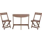Balkonmöbel Set Akazienholz - Braun, Basics, Holz (90/72/60cm)