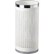 Schirmständer Girotti - Edelstahlfarben/Weiß, MODERN, Metall (23/50cm)