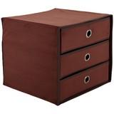 Schubladenbox Lisa New - Braun, MODERN, Karton/Textil (32/31,5/32cm)