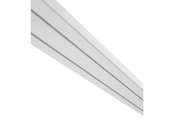 Kolejnička Na Závěsy Amelie, 180cm, Bílá - bílá, umělá hmota (180/7.8/1.7cm) - Mömax modern living