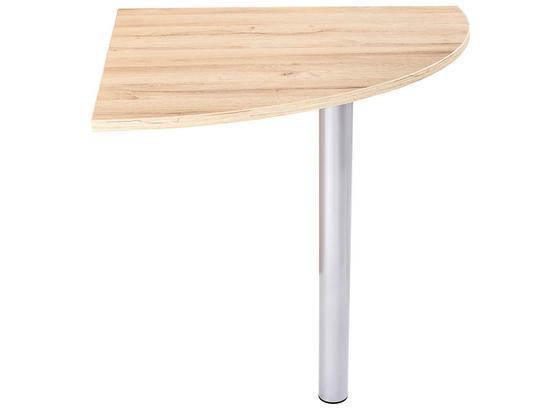Deska Rohového Spoje Mindi - barvy dubu, Moderní, kov/kompozitní dřevo (70/72/70cm)