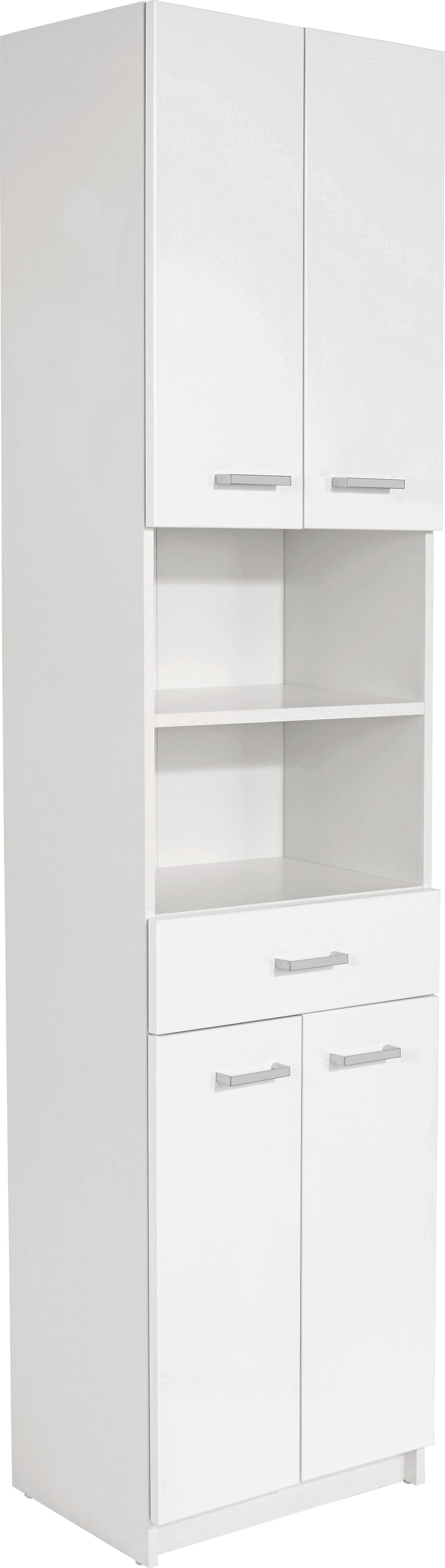 Magasszekrény Fiola - fehér, konvencionális, faanyagok (50/192/33,5cm)