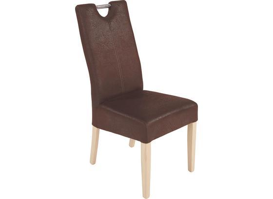 Židle Viktor - hnědá/béžová, Konvenční, dřevo (47/105,5/61cm)