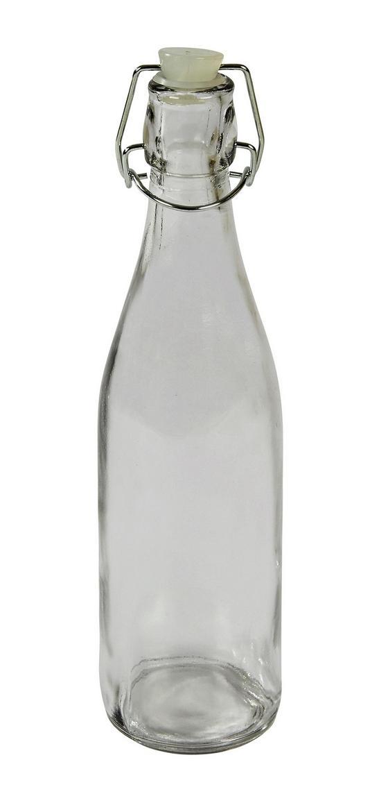 Universalflasche Irinai, 500 ml - Klar, KONVENTIONELL, Glas/Metall (7/27cm) - Ombra