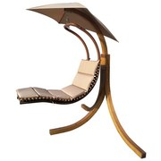 Schaukelliege Adana - Hellbraun, MODERN, Holz/Textil (175/200/200cm) - Luca Bessoni