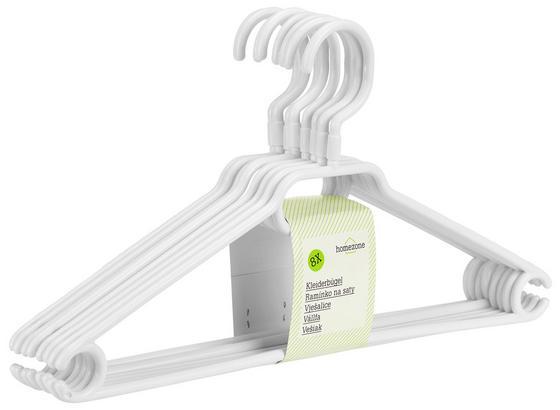 Kunststoffkleiderbügel 8er Set - Schwarz/Weiß, KONVENTIONELL, Kunststoff (40/6/21cm) - Homezone