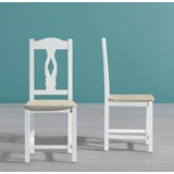 Židle Ginevra - bílá, Moderní, dřevo (40,5/94/43,5cm) - Mömax modern living