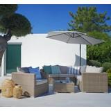 Sedací Souprava Monaco - hnědá/béžová, Moderní, kov/textilie (246/246cm) - Mömax modern living
