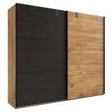Schwebetürenschrank Detroit B: 200 cm Eichefarben - Eichefarben/Graphitfarben, Basics, Holzwerkstoff (200/218/65cm)