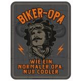 Dekoschild Blechschild Biker Opa - Multicolor, Basics, Metall (17/22cm)
