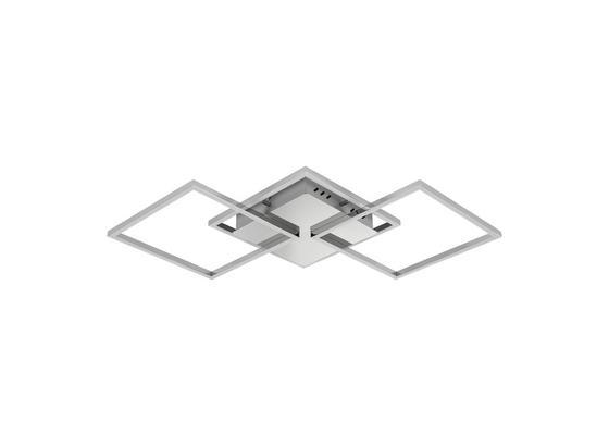Led Stropná Lampa Jose 75/37cm, 36 Watt - biela/strieborná, Konvenčný, kov/plast (75/37/6cm) - Premium Living