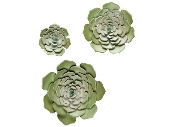 Dekoračný Kvet Lena - zelená, kov (15/2cm) - Mömax modern living