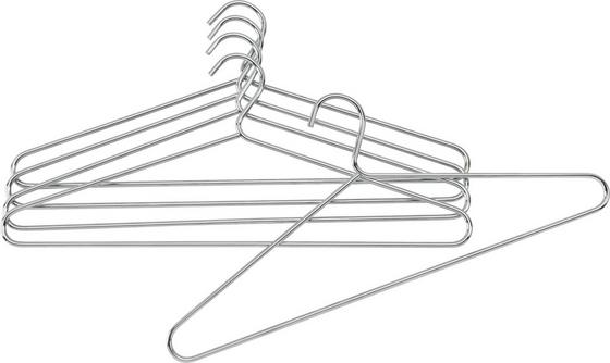 Metall-kleiderbügel Brunni-5 -sb- - Chromfarben, Basics, Metall (42/18cm) - Mömax modern living