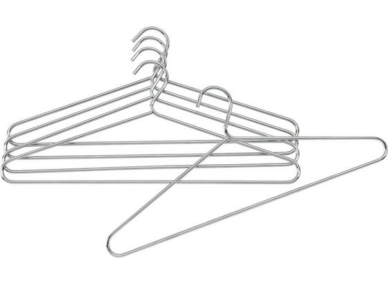 Sada Ramínek Na Šaty Brunni-5 - barvy chromu, Design, kov (42/18cm) - Carryhome