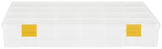 Sortimentskasten Finn - Transparent/Gelb, KONVENTIONELL, Kunststoff (32,4/24,7/5,1cm) - Homezone