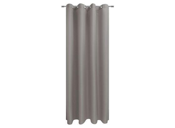Ösenvorhang Sorrento - Silberfarben, KONVENTIONELL, Textil (140/245cm) - Ombra