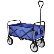 Transportwagen 66030 Faltbar Blau/ Schwarz - Blau/Schwarz, Basics, Textil/Metall (54/113,5/100cm)