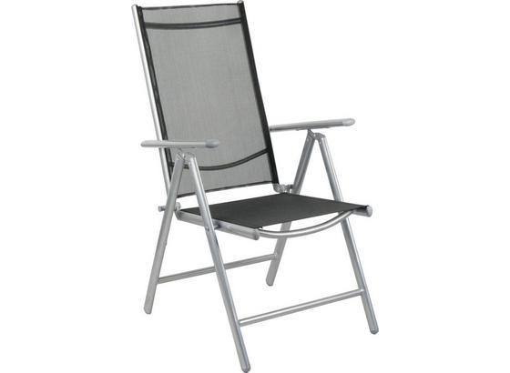 Záhradná Skladacia Stolička Bruce - antracitová/farby hliníka, Moderný, kov/textil (56/106/66cm) - Mömax modern living