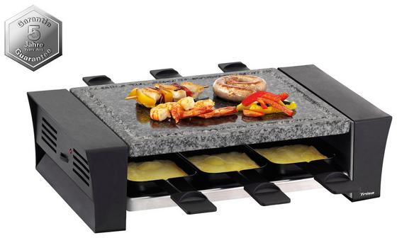 Raclette-Grill Raclettino 6 - Schwarz, MODERN, Kunststoff/Stein (37,6/22,7/10,2cm)