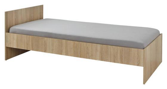 Postel Mili - Sonoma dub, Lifestyle, dřevo (94/41-70,5/204cm)