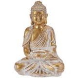 Buddha Aryan - Goldfarben/Weiß, Basics, Kunststoff (17,5/12,5/25,5cm) - Ombra