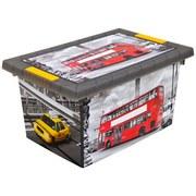 Box mit Deckel City - Anthrazit, Kunststoff (30/15/20cm)