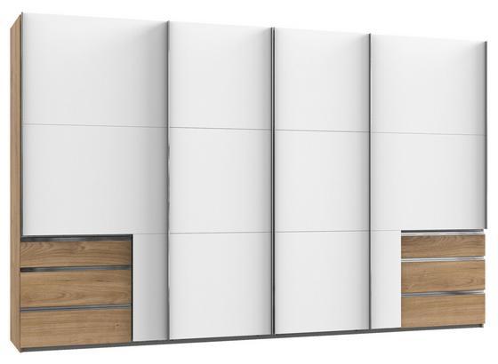 Schwebetürenschrank Level 36a B: 350cm Eiche/Weiß - Eichefarben/Weiß, Basics, Holzwerkstoff (350,00/216,00/65,00cm)