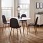 Jedálenský Stôl John - farby dubu/biela, Moderný, kov/drevo (110/76cm) - Modern Living
