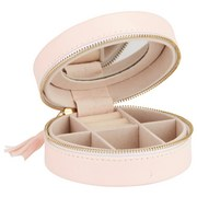 Skříňka Na Šperky Java - světle růžová, Basics, další přírodní materiály/textil (10.5/4.5cm)