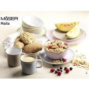 Kombiservice 16-Tlg. Kombiservice Maila - Rosa/Grau, Basics, Keramik (54,3/26,1/32,6cm)