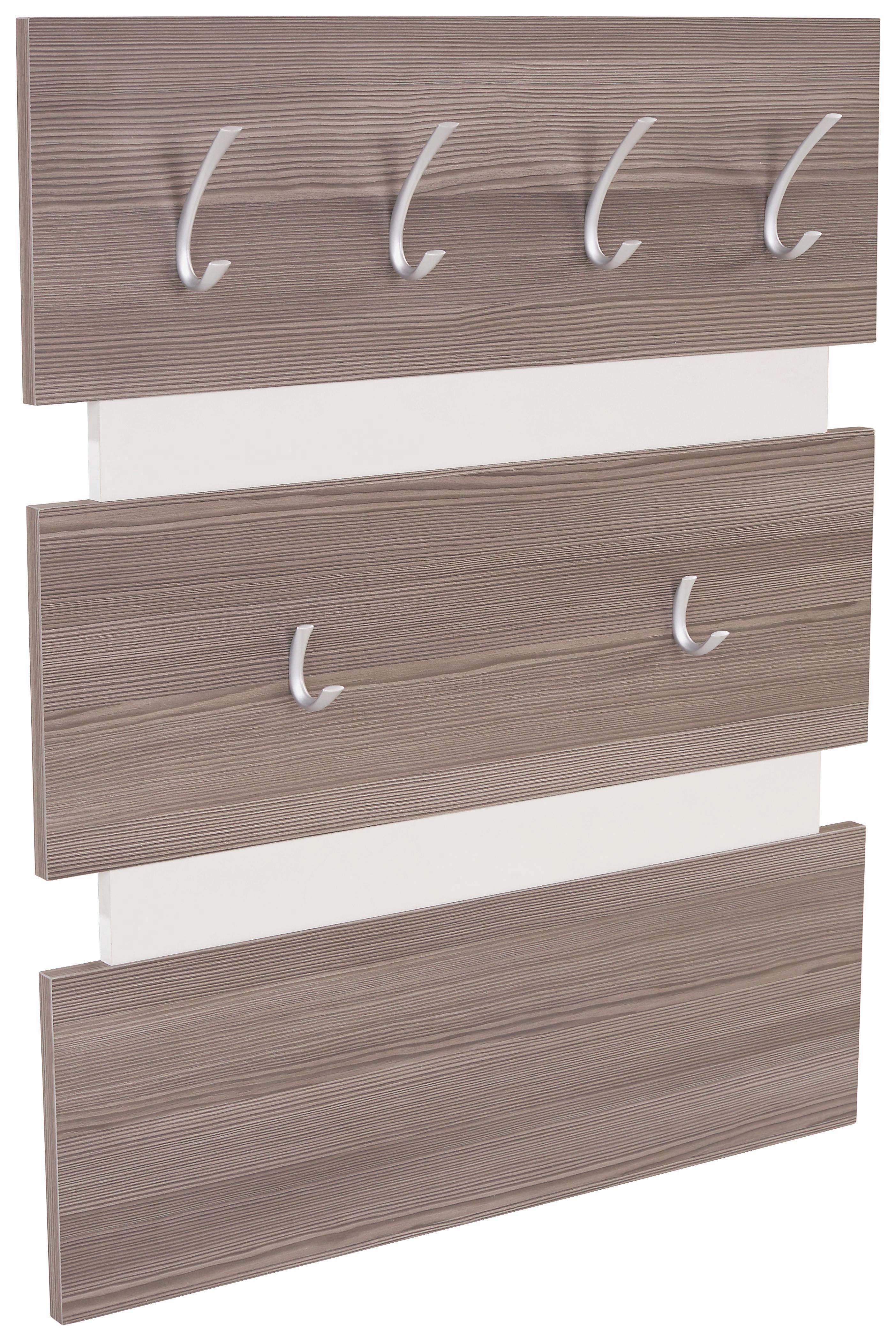 Előszoba Panel Moya - sötétbarna/fehér, modern, műanyag/faanyagok (70/99/2cm)