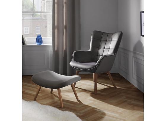Relaxační Křeslo Merlin - šedá, Moderní, dřevo/textilie (71/98/80cm) - Mömax modern living