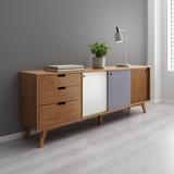 Komoda Jillian - bílá/šedá, Moderní, dřevo (160/60/35cm) - Mömax modern living