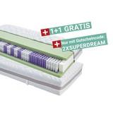 Taschenfederkernmatratze Superior Dream H3 90x200 - Weiß, KONVENTIONELL, Textil (90/200cm) - Primatex Deluxe