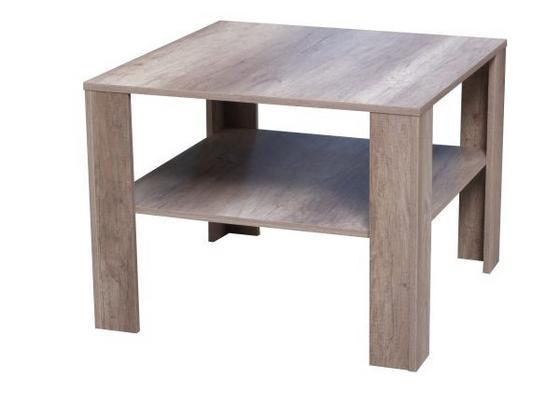 Konferenčný Stolík Midi - farby dubu, Moderný, drevený materiál (73/55/73cm)