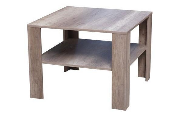 Konferenčný Stolík Midi - farby dubu, Moderný, kompozitné drevo (73/55/73cm)