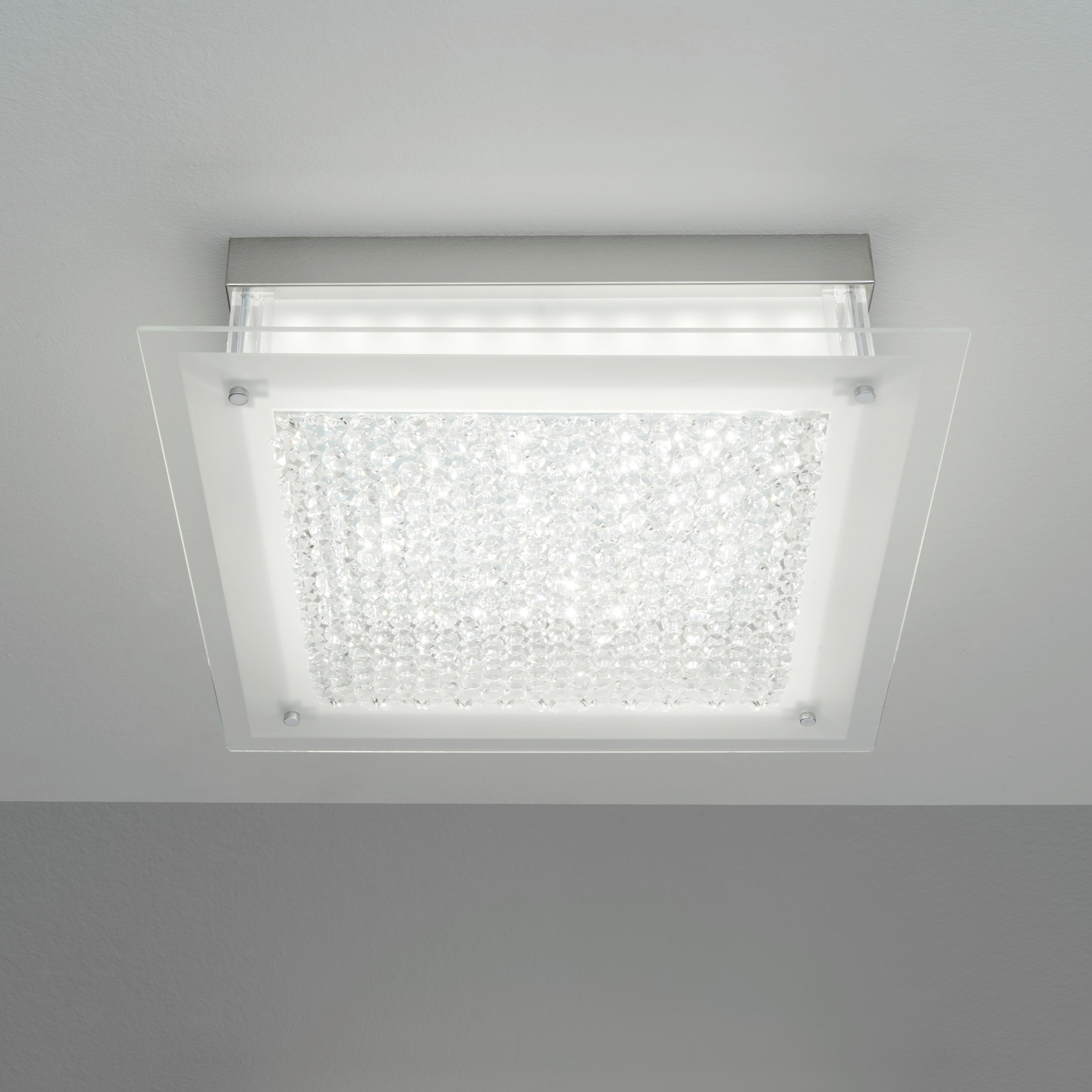 Stropná Lampa Magnus - Moderný, kov/sklo (45/45/10,3cm) - MÖMAX modern living