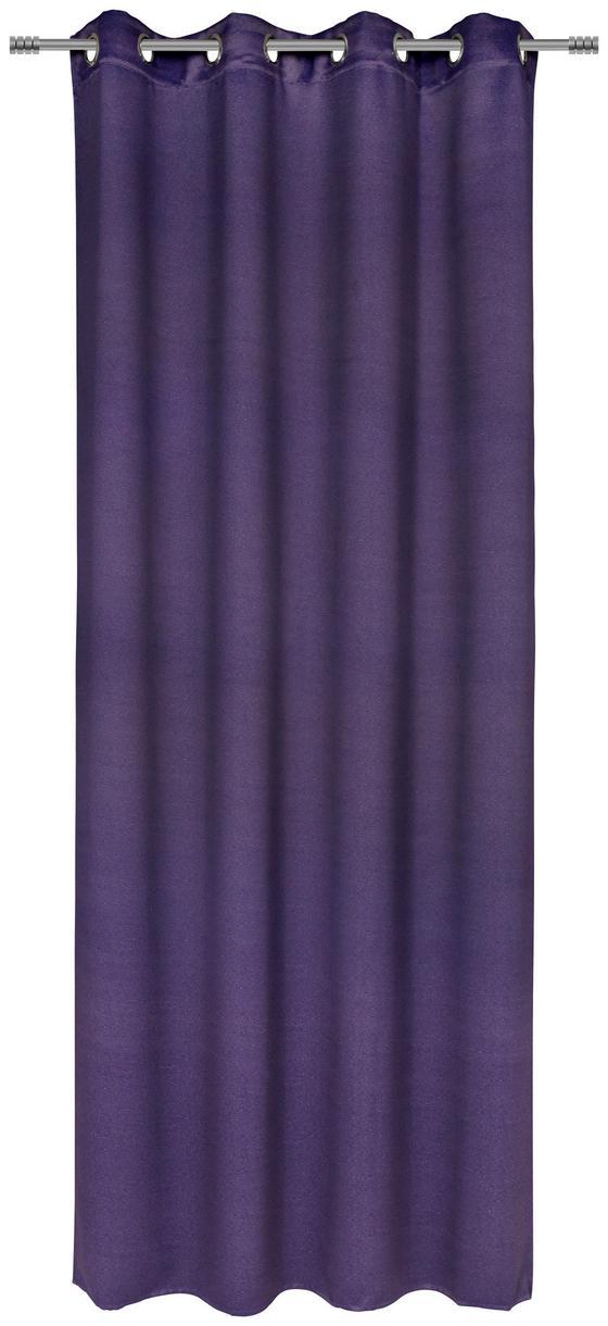 Készfüggöny Carmen - viola, romantikus/Landhaus, textil (140/245cm) - JAMES WOOD