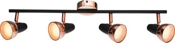 LED-Spotleuchte Dilara - Schwarz/Kupferfarben, MODERN, Kunststoff/Metall (60/14,5cm)